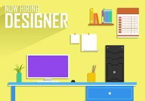 Maintenant embauche Designer Poster Template Free Vector