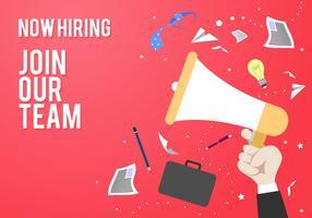 Rejoignez notre équipe modèle d'affiche de recrutement Free Vector