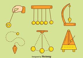 vecteur d'outils d'hypnose dessiné main