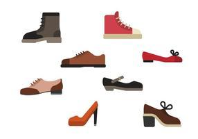 Vecteurs de chaussures plates vecteur