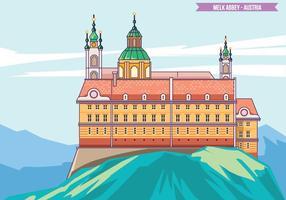 Melk Abbey Magnifique site du patrimoine mondial de l'UNESCO Vector