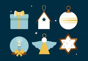 Free Flat Design Icônes vectorielles de vacances d'hiver