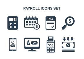 Icônes de paie vecteur
