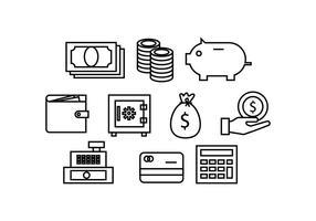 Vecteur de l'icône de la ligne de financement gratuit