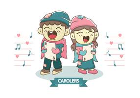 Vecteur Carolers gratuit