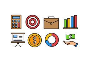 pack d'icônes des affaires et des finances vecteur