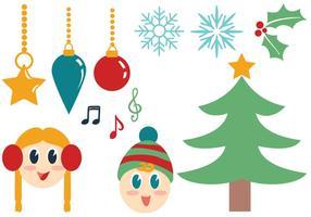 Vecteurs de Noël gratuits vecteur
