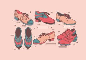 Tapez des chaussures pour le vecteur des hommes