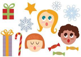 Vecteurs gratuits de Noël 2 vecteur