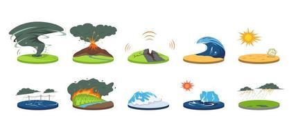 ensemble de catastrophes naturelles vecteur