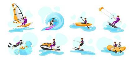 sports nautiques extrêmes vecteur