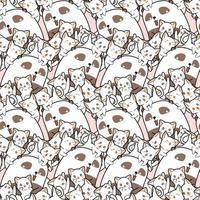 transparente motif panda et amis kawaii en style cartoon