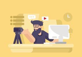 illustration de créateur de vidéo vecteur