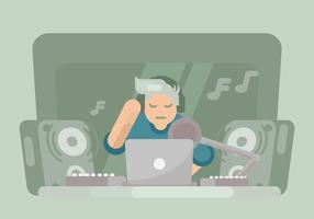 illustration de créateur de musique vecteur