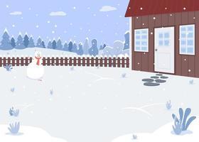 cour de maison d'hiver