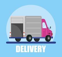 bannière de camion de livraison et de service de messagerie
