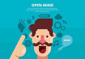 Illustration de l'esprit ouvert vecteur