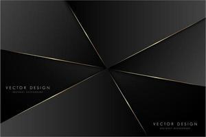 fond métallique noir et or moderne