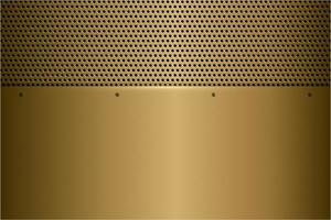 fond métallique doré moderne vecteur