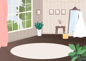 salle pour la préparation du mariage vecteur