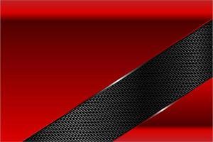 fond métallique rouge et noir moderne vecteur