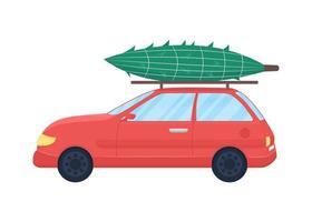 arbre de noël sur voiture