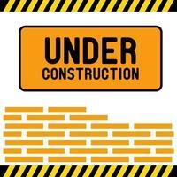 sous la conception de vecteur de signe de construction