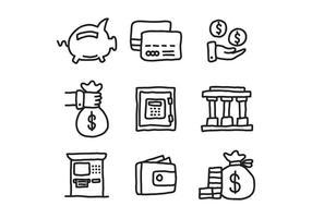 Icônes Doodle CPA vecteur