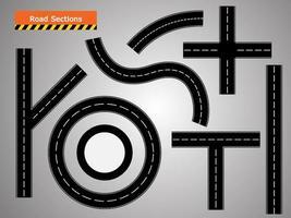 icône de la route, route courbe sinueuse. vecteur