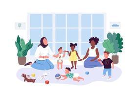 les mères aident les mères vecteur