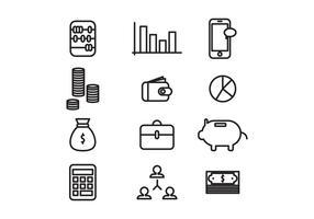 Icônes de comptable public décrites vecteur