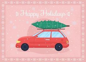 joyeuses fêtes carte de voeux