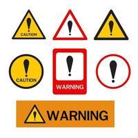 panneau d'avertissement, signe de danger. vecteur