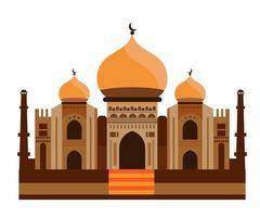vecteur de la mosquée, illustration vectorielle