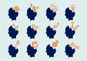 Ouvrir les icônes vectorielles de l'esprit vecteur