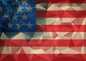 fond de drapeau usa triangle polygonale abstrait vecteur