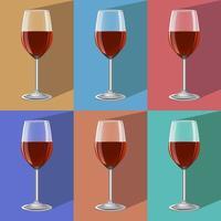 verres de vin sur support en métal