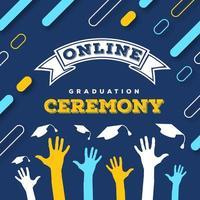 cérémonie de remise des diplômes en ligne conception de publication sur les médias sociaux