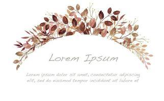 fond d'arc botanique automne aquarelle vecteur