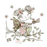 une jolie petite fée avec une libellule