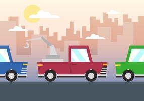 Treuil voiture Vector Illustration