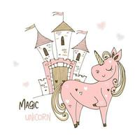 joli château de licorne et de fée.