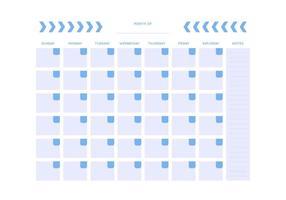 Vecteurs de calendrier mensuel unique gratuit vecteur