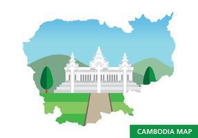 Carte du Cambodge vecteur