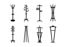 Coat icônes vectorielles stand