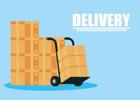 bannière de service de livraison