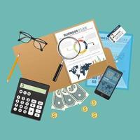 audit concept de plan d & # 39; affaires vecteur