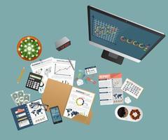 concept d'audit. comptabilité, recherche, calcul vecteur