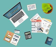 concept d'entreprise d'audit vecteur