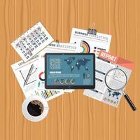 audit concept financier vecteur